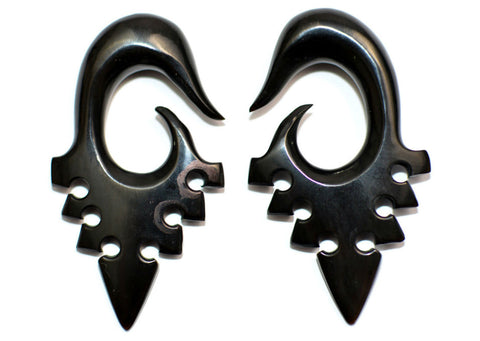 Carved Organic Horn Arrowhead Ear Hanger