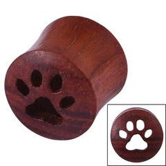 Double flared rangas wood paw print cutout tunnel 6mm - 14mm