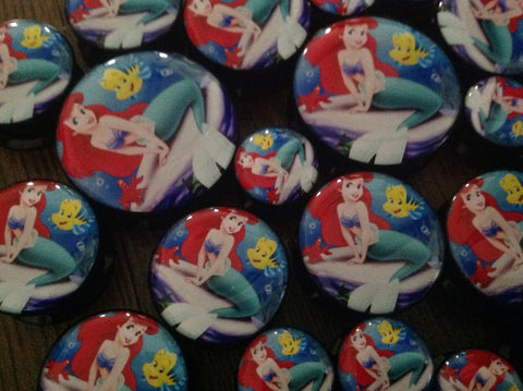 The Little Mermaid Ariel & Flounder Acrylic Plug