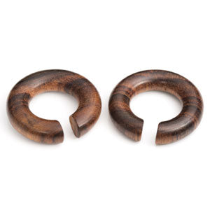 Sono wood circular ear stretching hoop hanger weight in sizes 6mm - 16mm