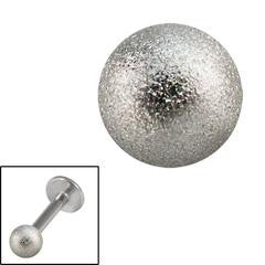 Shimmering steel spare threaded ball for 1.2mm & 1.6mm externally threaded jewellery