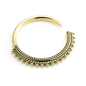 Tribal style brass hoop ear stretching weight 10g per piece