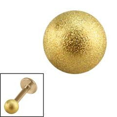 Zircon gold steel shimmering spare ball for 1.2mm & 1.6mm externally threaded jewellery