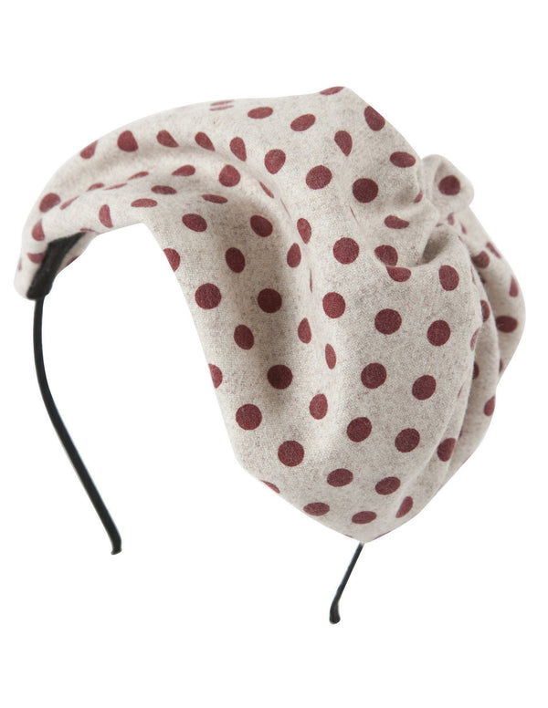 Petit Hat - Burgundy Polka Dot Wool - PROJECT 6, modest fashion