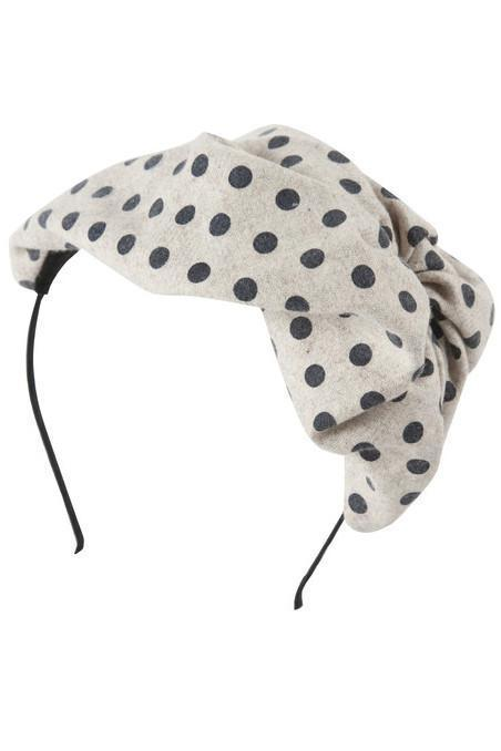 Petit Hat -  Black Polka Dot Wool - PROJECT 6, modest fashion