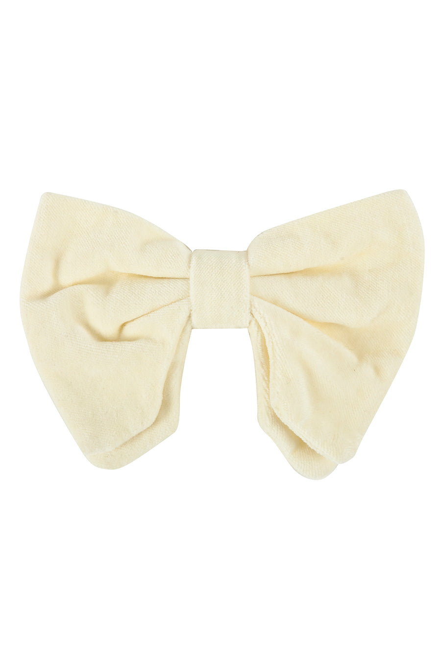 Avant Garde Bowtie - Ivory Velvet - PROJECT 6, modest fashion