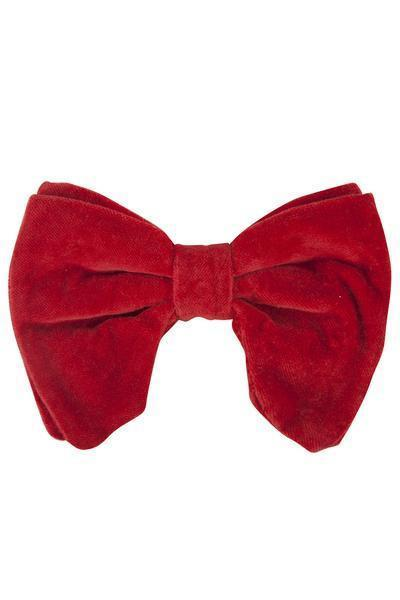 Avant Garde Bowtie - Red Velvet - PROJECT 6, modest fashion