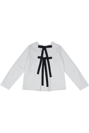 ABACO - White/Black Ties Poplin - PROJECT 6, modest fashion