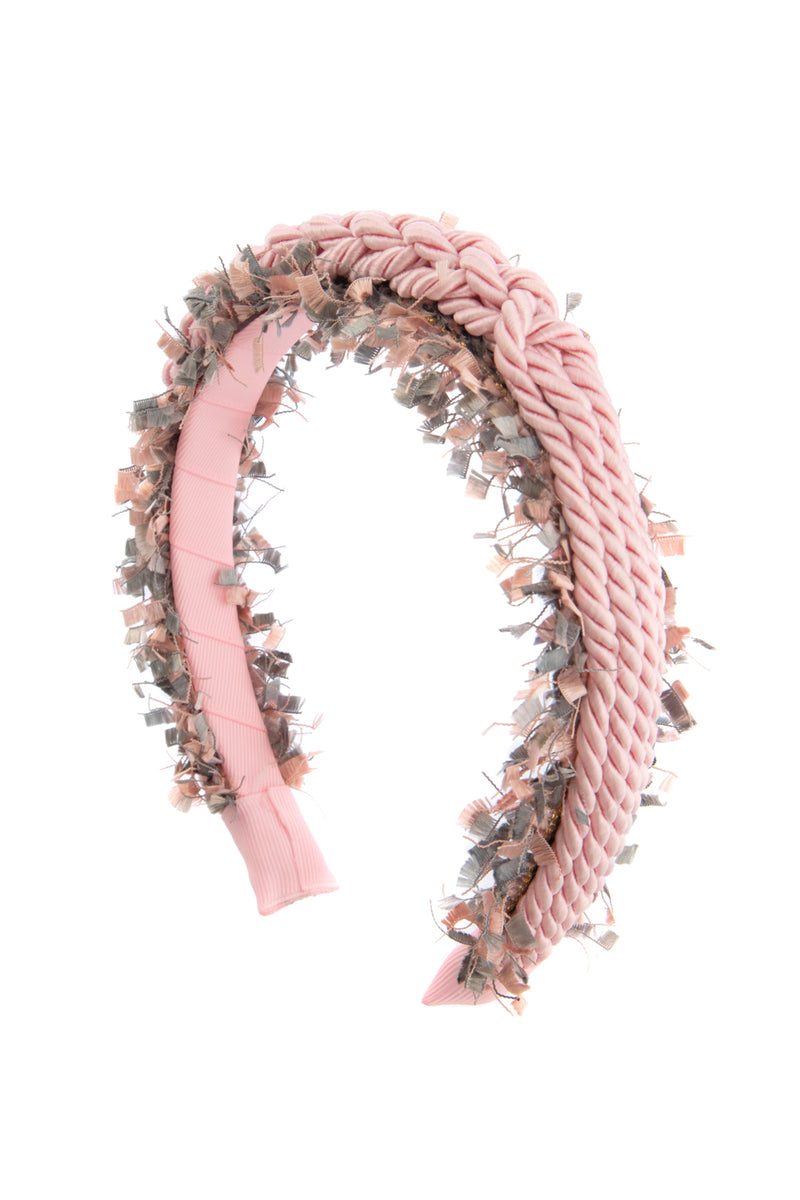 All Roped In Headband - Pink/Grey - PROJECT 6, modest fashion