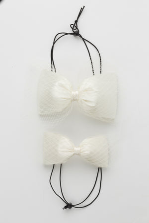 Avant Garde Bow Grand - Dove Ivory - PROJECT 6, modest fashion