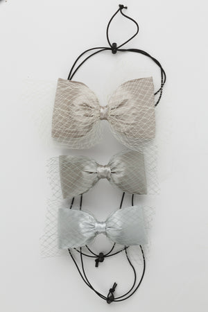 Avant Garde Bow Grand - Silver - PROJECT 6, modest fashion