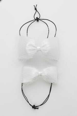 Avant Garde Bow Grand - White - PROJECT 6, modest fashion