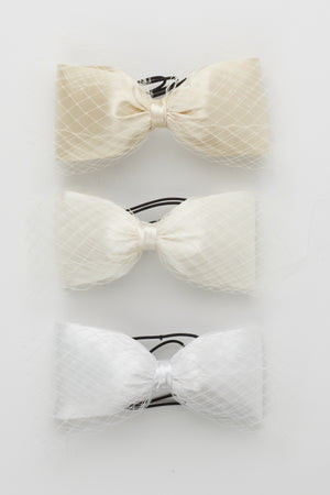 Avant Garde Bow Petit - Ivory - PROJECT 6, modest fashion