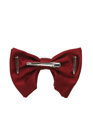 Avant Garde Bowtie - Burgundy Satin - PROJECT 6, modest fashion