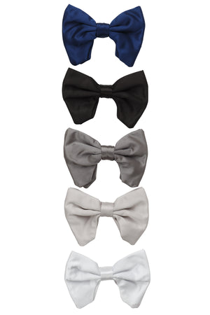 Avant Garde Bowtie - Charcoal Satin - PROJECT 6, modest fashion