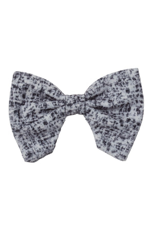 Beauty & The Beast Bowtie/Hair Clip - Black/White Speckled Velvet - PROJECT 6, modest fashion