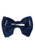 Beauty & The Beast Bowtie/Hair Clip - Navy Paisely Suede - PROJECT 6, modest fashion