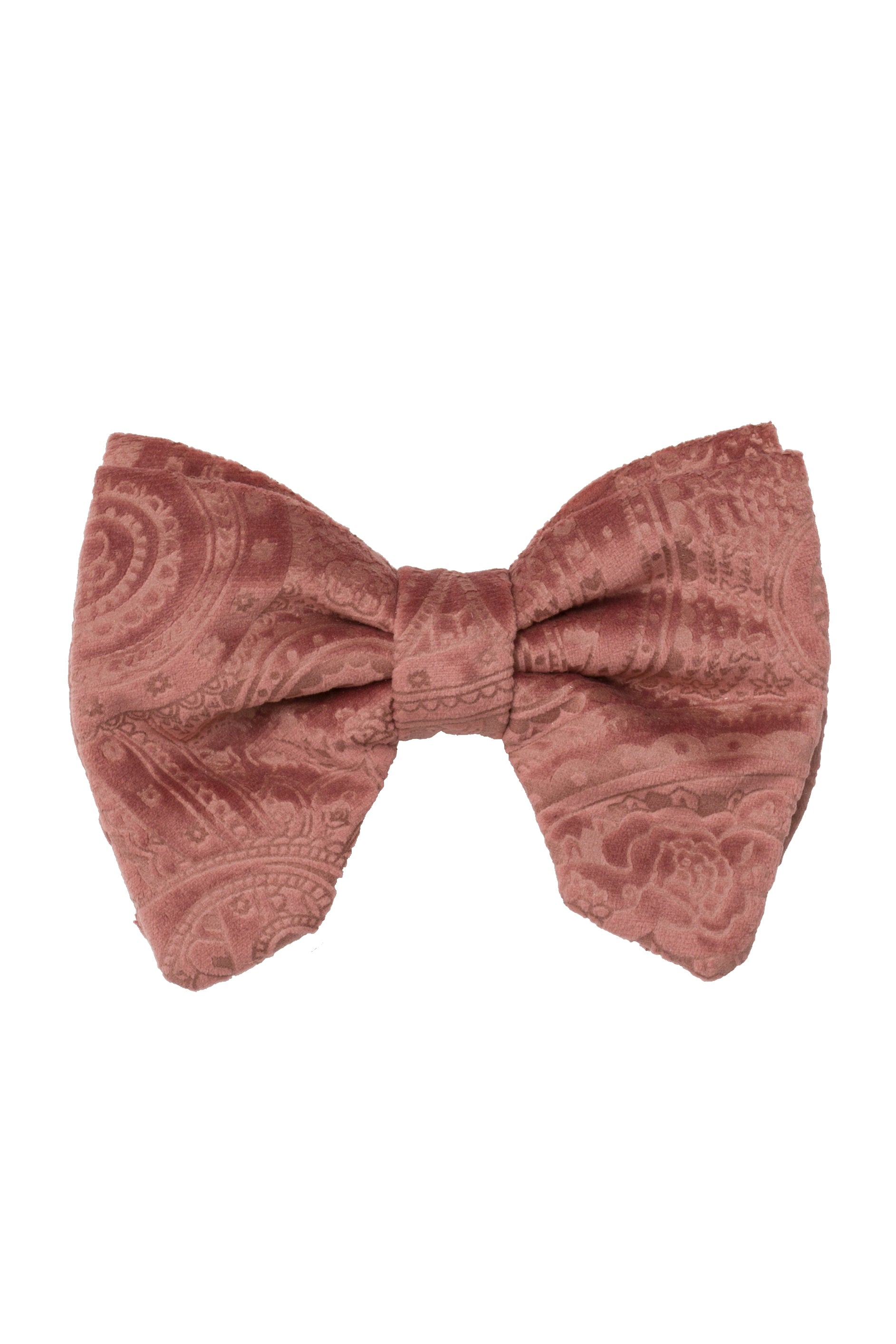 Beauty & The Beast Bowtie/Hair Clip - Rose Paisely Suede - PROJECT 6, modest fashion