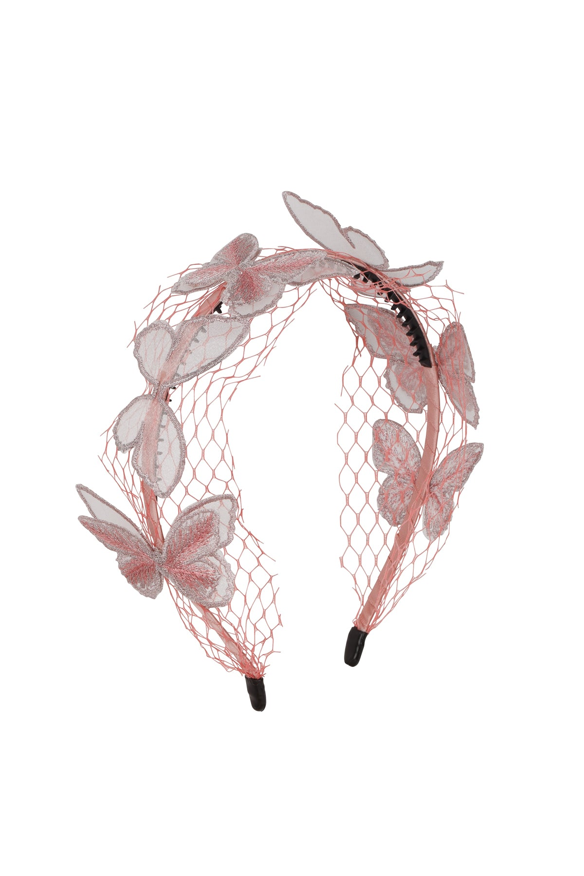 Mesh Butterfly Headband - Pink - PROJECT 6, modest fashion
