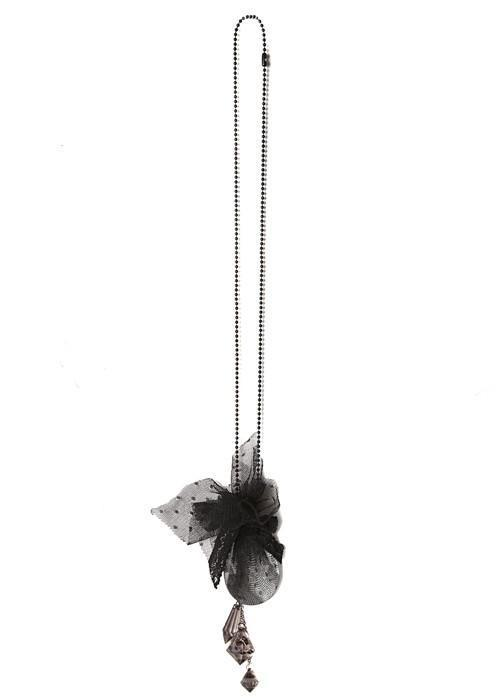 Calla Crystal Necklace - Black