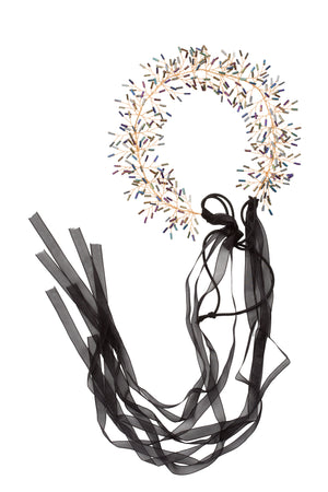 Clustered Wreath - Black Bugle - PROJECT 6, modest fashion