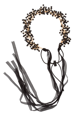 Clustered Wreath - Black Pearl - PROJECT 6, modest fashion