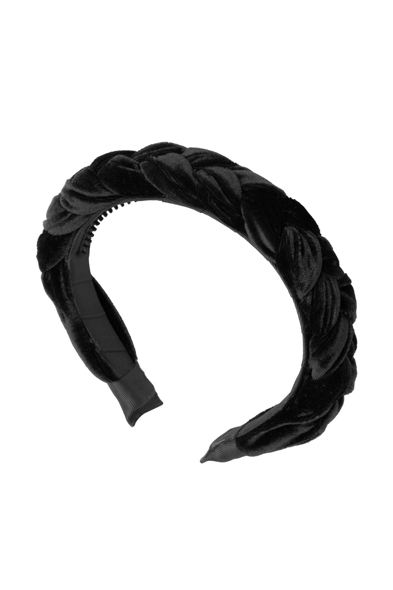 Coronation Day Headband - Black Velvet - PROJECT 6, modest fashion