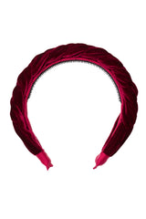 Coronation Day Headband - Burgundy Velvet - PROJECT 6, modest fashion