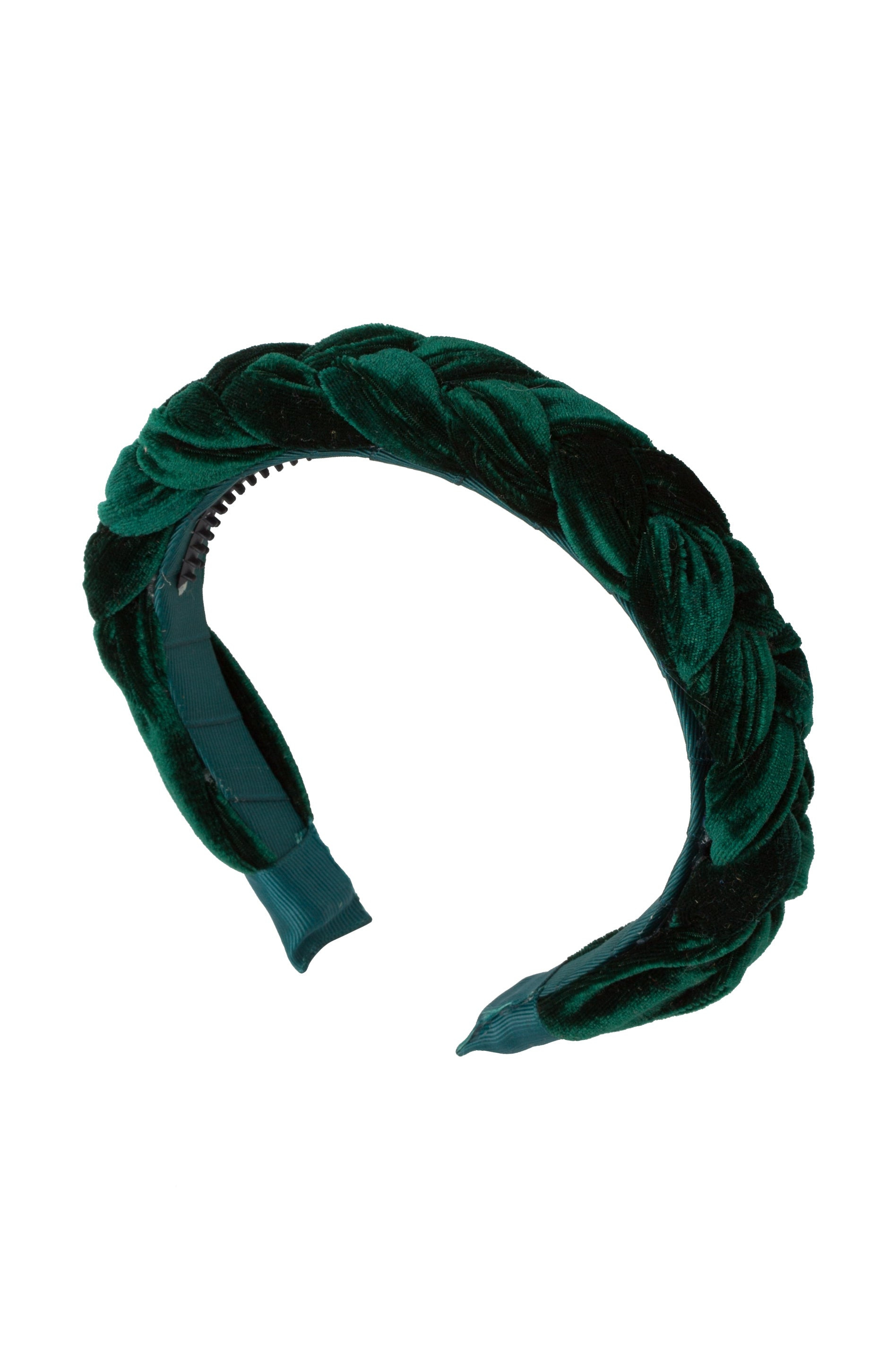 Coronation Day Headband - Hunter Green Velvet - PROJECT 6, modest fashion