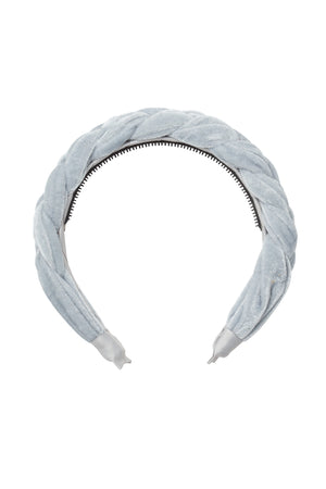 Coronation Day Headband - Light Blue Velvet - PROJECT 6, modest fashion