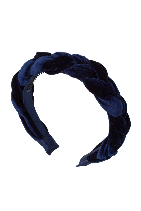 Coronation Day Headband - Navy Velvet - PROJECT 6, modest fashion