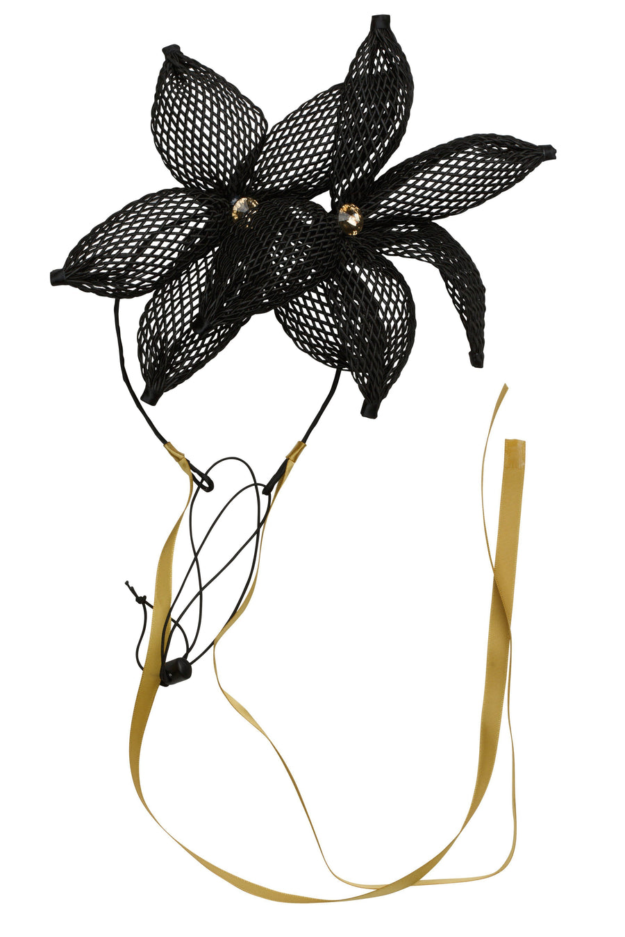 Double Mesh Orchid Wrap - Black