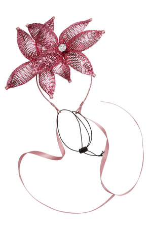Double Mesh Orchid Wrap - Bright Pink - PROJECT 6, modest fashion