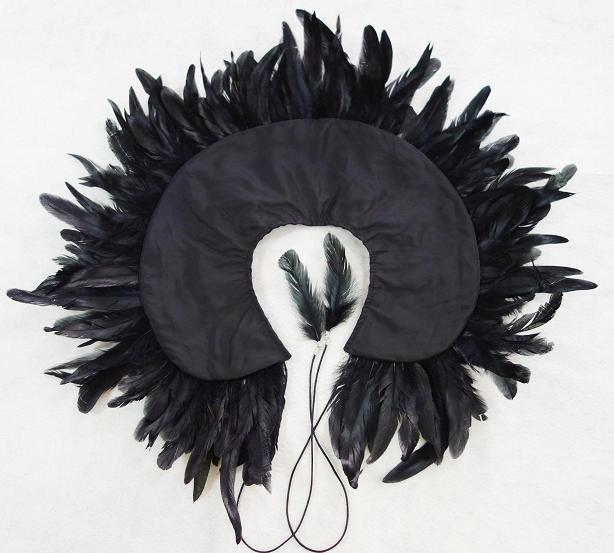 Feather Collar - Black - PROJECT 6, modest fashion