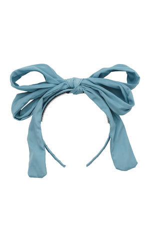 Double Party Bow Headband - Light Turquoise - PROJECT 6, modest fashion