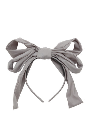 Double Party Bow Headband - Light Grey - PROJECT 6, modest fashion