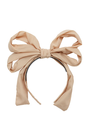 Double Party Bow Headband - Taupe - PROJECT 6, modest fashion
