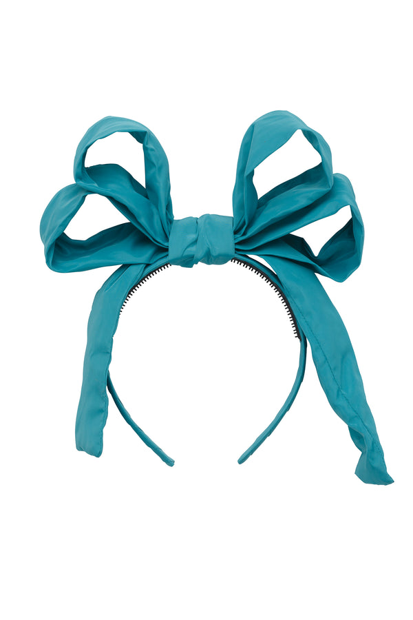 Double Party Bow Headband - Teal - PROJECT 6, modest fashion