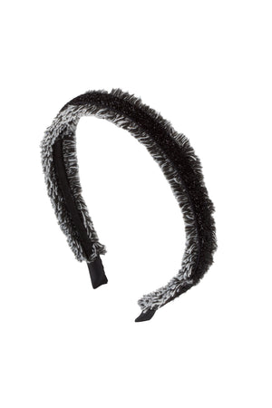 Flat Fringe Headband - Black/White - PROJECT 6, modest fashion