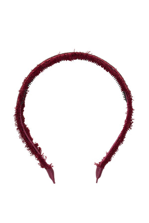 Flat Fringe Headband - Burgundy - PROJECT 6, modest fashion