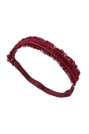 Flat Fringe Wrap - Burgundy - PROJECT 6, modest fashion