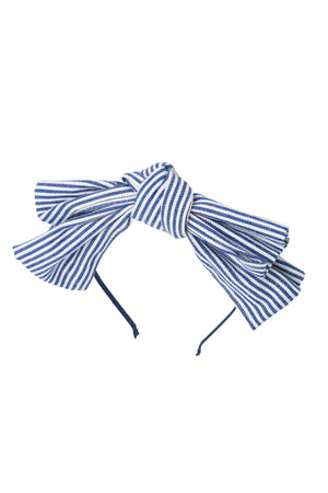 Floppy Denim Headband - Pinstripe - PROJECT 6, modest fashion