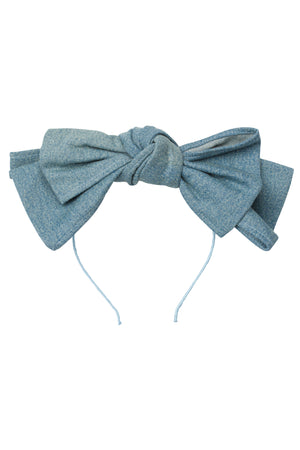 Floppy Denim Headband - Teal Denim - PROJECT 6, modest fashion