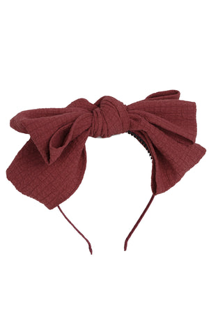 Floppy Muslin Headband - Berry - PROJECT 6, modest fashion
