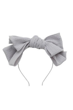 Floppy Muslin Headband - Light Grey - PROJECT 6, modest fashion