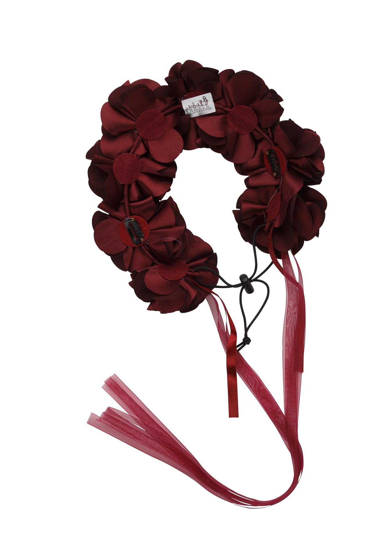 Floral Wreath Full - Burgundy - PROJECT 6, modest fashion