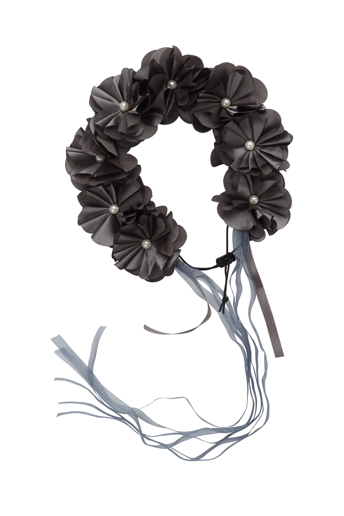 Floral Wreath Full - Charcoal - PROJECT 6, modest fashion