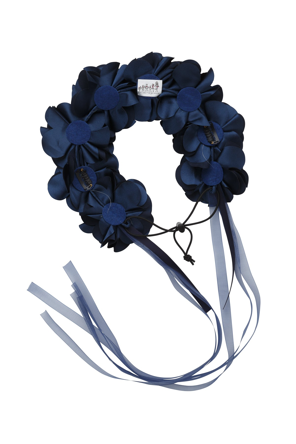 Floral Wreath Full - Navy - PROJECT 6, modest fashion