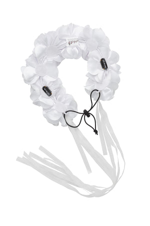 Floral Wreath Full - White - PROJECT 6, modest fashion
