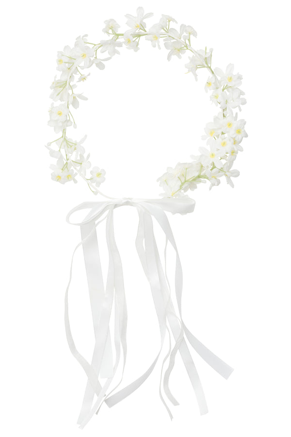 Flower Wreath - White Ribbon - PROJECT 6, modest fashion